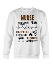 Nurse Survival Plan Caffeine Alcohol Crewneck Sweatshirt thumbnail