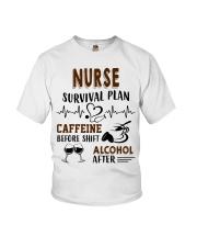 Nurse Survival Plan Caffeine Alcohol Youth T-Shirt thumbnail