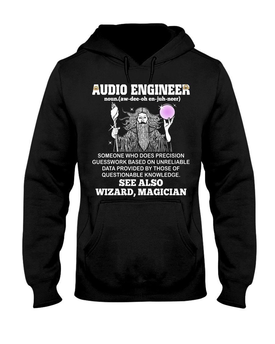 Audio Engineer See Wizard Magician Hooded Sweatshirt