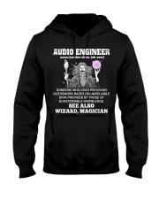 Audio Engineer See Wizard Magician Hooded Sweatshirt front