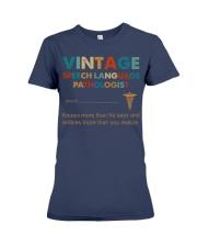 Vintage SLP Knows More Than He Says Premium Fit Ladies Tee thumbnail