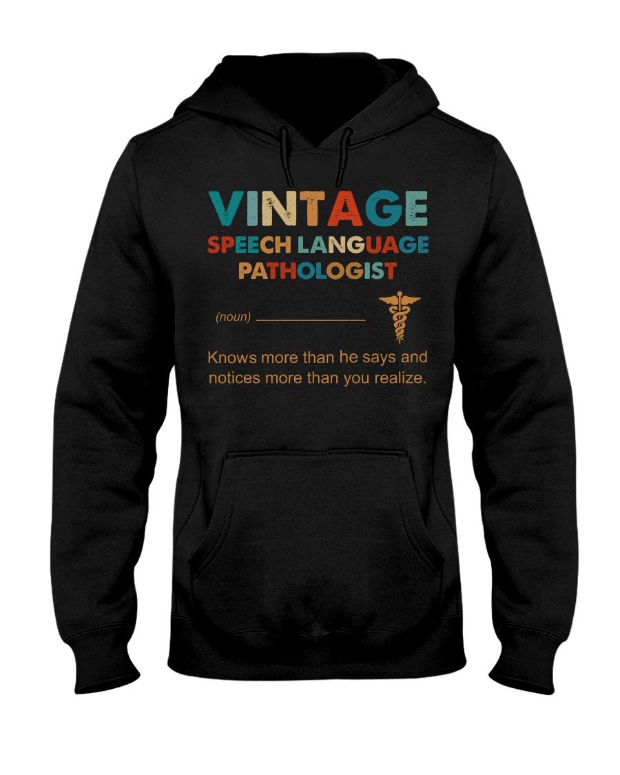 Vintage SLP Knows More Than He Says Hooded Sweatshirt