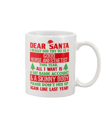 Dear Santa Good Nurse Anesthetist
