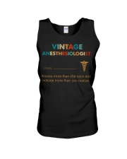 Vintage Anesthesiologist Knows More Than She Says Unisex Tank thumbnail