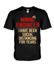 Mining Engineer Social Distancing For Years V-Neck T-Shirt thumbnail