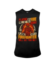 Playing With Firefighter Get You Wet Sleeveless Tee thumbnail