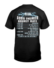 Audio Engineer Hourly Rate Premium Fit Mens Tee thumbnail