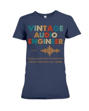 Vintage Audio Engineer Knows More Than He Says Premium Fit Ladies Tee thumbnail