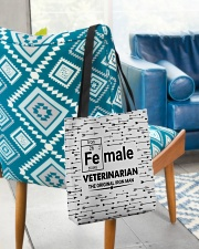 Female Veterinarian Arrow All-over Tote aos-all-over-tote-lifestyle-front-01