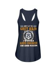 Dont Let Grey Hair Fool You Audio Engineer Ladies Flowy Tank thumbnail