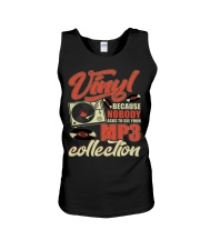 Vinyl Because Nobody Asks MP3 Collection Unisex Tank thumbnail