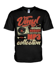 Vinyl Because Nobody Asks MP3 Collection V-Neck T-Shirt thumbnail