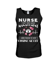 Nurse I Don't Need Anger Management Unisex Tank thumbnail