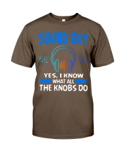 Sound Guy Yes I Know What All The Knobs Do Classic T-Shirt thumbnail