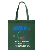 Sound Guy Yes I Know What All The Knobs Do Tote Bag thumbnail