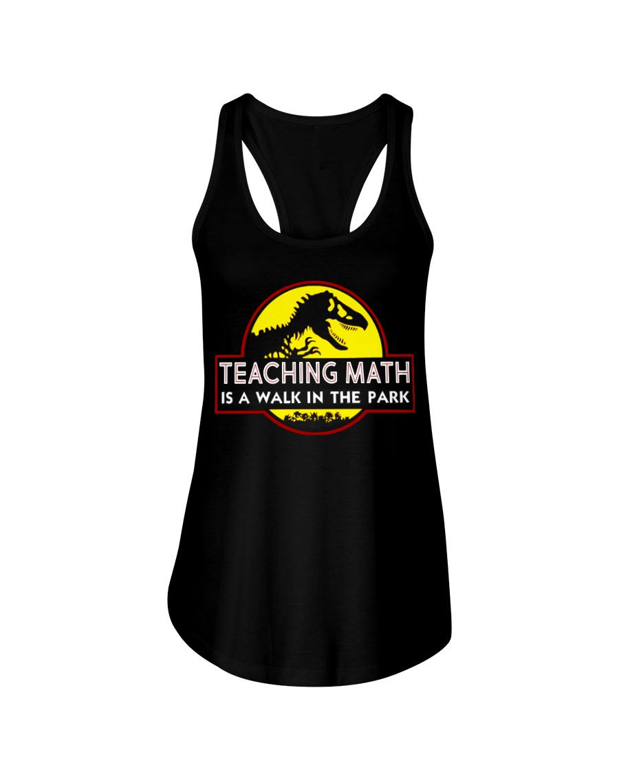 Teaching Math Is A Walk In The Park Ladies Flowy Tank