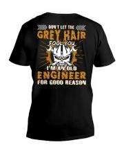 Dont Let Grey Hair Fool You Engineer V-Neck T-Shirt thumbnail