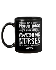Proud Boss Of Awesome Nurses Gift For Boss Mug back