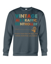 Vintage Air Traffic Controller Knows More Than He Crewneck Sweatshirt thumbnail