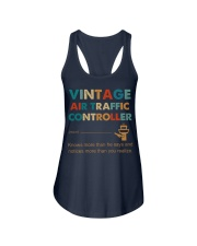 Vintage Air Traffic Controller Knows More Than He Ladies Flowy Tank thumbnail