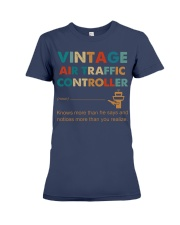 Vintage Air Traffic Controller Knows More Than He Premium Fit Ladies Tee thumbnail