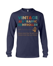 Vintage Air Traffic Controller Knows More Than He Long Sleeve Tee thumbnail