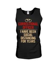 Correctional Officer Social Distancing Unisex Tank thumbnail