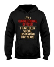 Correctional Officer Social Distancing Hooded Sweatshirt thumbnail