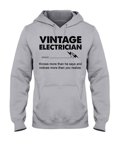 Vintage Electrician Knows More Than He Says White
