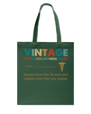 Vintage Otorhinolaryngologist Knows More Than He Tote Bag thumbnail