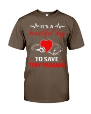 It's A Beautyful Day To Save Tiny Humans Classic T-Shirt thumbnail
