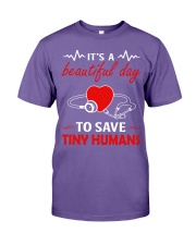 It's A Beautyful Day To Save Tiny Humans Premium Fit Mens Tee thumbnail