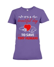 It's A Beautyful Day To Save Tiny Humans Premium Fit Ladies Tee thumbnail