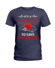 It's A Beautyful Day To Save Tiny Humans Ladies T-Shirt thumbnail