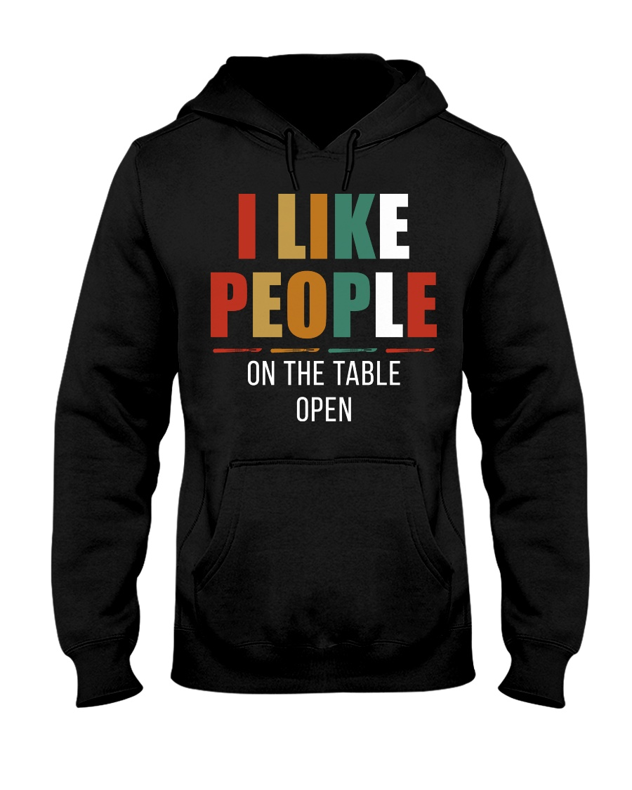 I Like People Hooded Sweatshirt