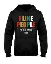I Like People Hooded Sweatshirt front