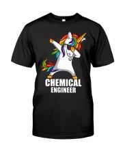 Chemical Engineer Unicorn Dabbing Classic T-Shirt front
