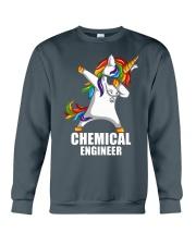 Chemical Engineer Unicorn Dabbing Crewneck Sweatshirt thumbnail