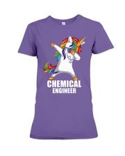 Chemical Engineer Unicorn Dabbing Premium Fit Ladies Tee thumbnail