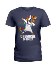 Chemical Engineer Unicorn Dabbing Ladies T-Shirt thumbnail