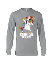 Chemical Engineer Unicorn Dabbing Long Sleeve Tee thumbnail
