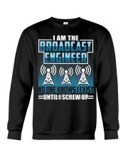 Broadcast Engineer No One Knows I Exist Crewneck Sweatshirt thumbnail