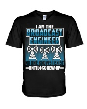 Broadcast Engineer No One Knows I Exist V-Neck T-Shirt thumbnail