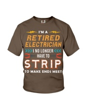Retired Electrician I No Longer Have To Strip Youth T-Shirt thumbnail