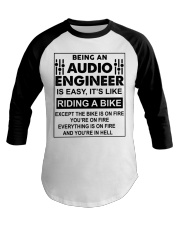 Being An Audio Engineer Is Easy Baseball Tee thumbnail