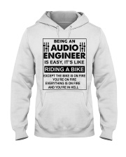 Being An Audio Engineer Is Easy Hooded Sweatshirt thumbnail