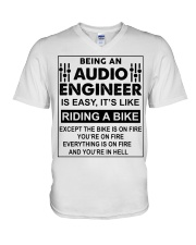 Being An Audio Engineer Is Easy V-Neck T-Shirt thumbnail