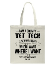 I Am A Grumpy Vet Tech Tote Bag thumbnail