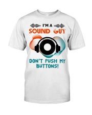 Sound Guy Dont Push My Button Premium Fit Mens Tee thumbnail