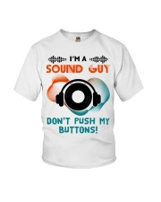 Sound Guy Dont Push My Button Youth T-Shirt thumbnail